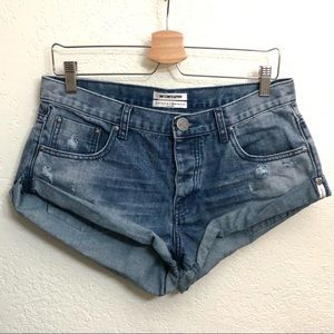 One Teaspoon Low Rise Distressed Bandits Relaxed